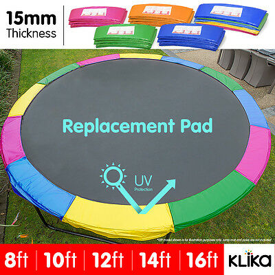 AU89 • Buy REPLACEMENT TRAMPOLINE PAD REINFORCED OUTDOOR ROUND SPRING COVER 8 10 12 14 16ft