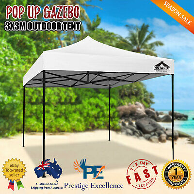 AU116.50 • Buy 3x3m Outdoor Gazebo Pop Up Tent Folding Marquee Wedding Party Camping Canopy NEW