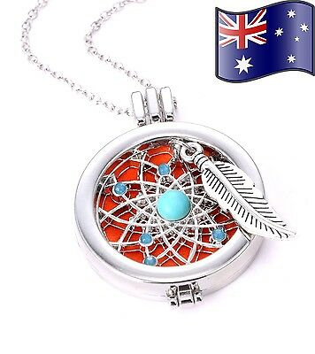 AU12.95 • Buy Aromatherapy Dreamcatcher Essential Oil Diffuser Necklace + Diffuser Pads