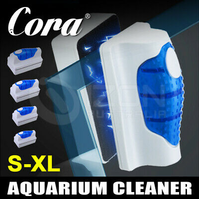 AU15.91 • Buy Magnetic Clean Brush Aquarium Fish Tank Glass Algae Scraper Cleaner Floating