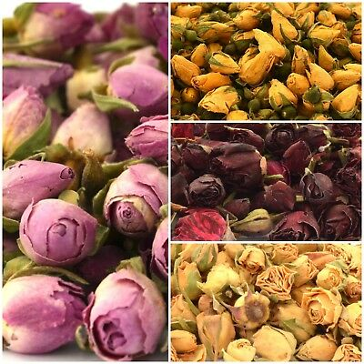 £2.99 • Buy Dried Rose Buds - Edible Rose Petals For Crafts Soap Candle Cake Decor Tea Cake