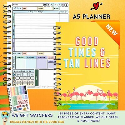 3 Mth Diet Food Diary WEIGHT WATCHERS Compatible Journal Planner Book WW 9-2021 • 8.95£