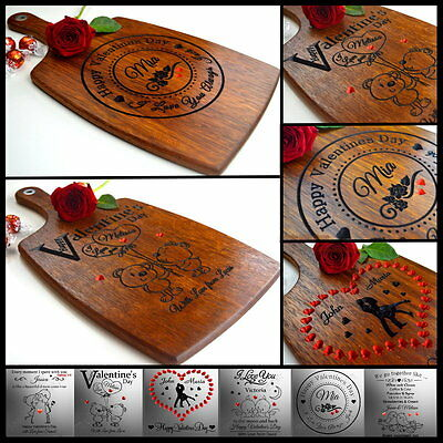 AU56.27 • Buy Personalised Engraved Valentine Day Gift Cutting Board Personalized Valentine's