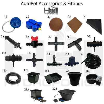 Autopot Irrigation Watering System Parts/Spare Accessories Connectors Hydroponic • 3.95£