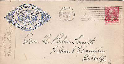 Advertising Envelope Cover  A SMITH & SONS Brushes Bronze Powder Art  NYC 1902 • 6.82£