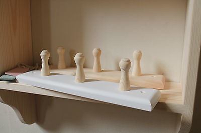 Coat Rack With Natural Wooden Pegs • 15£