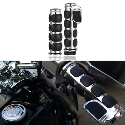 AU49.95 • Buy  1  Chrome Hand Grips For Harley Davidson Sportster Dyna Softail Road King Glide