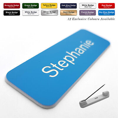 £1.40 • Buy PIN Engraved Personalised Staff Name Badges Business Corporate Shop Pub Work