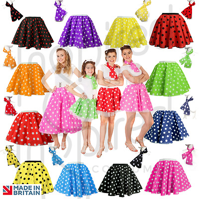50s Fancy Dress Skirt Outfit 1950s Rock N Roll Dance Wear Women's Sizes • 7.99£
