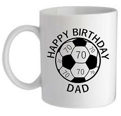 £8.95 • Buy Personalised Birthday Gift Football Mug Son Dad Uncle Brother Any Age Or Name