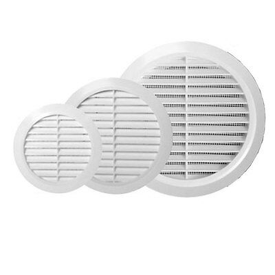 £3.65 • Buy White Circle Grille Air Vent 100mm 125mm 4  5  6  Ducting Ventilation Cover Grid
