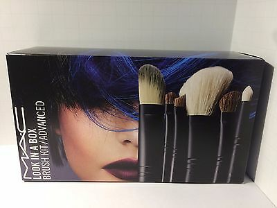MAC Cosmetics Look In A Box Advanced Brush Set With Original Bag NIB • 54.99$