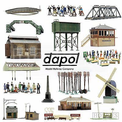 Dapol Plastic Model Building Kits OO HO Gauge Scale Railway Track Side Figures • 9.99£