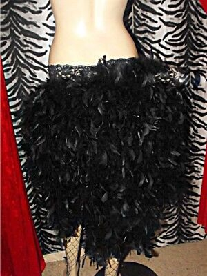 Burlesque Feather Skirt Showgirl Tie On Bustle 8-24 White Red Black Pink Purple • 22£
