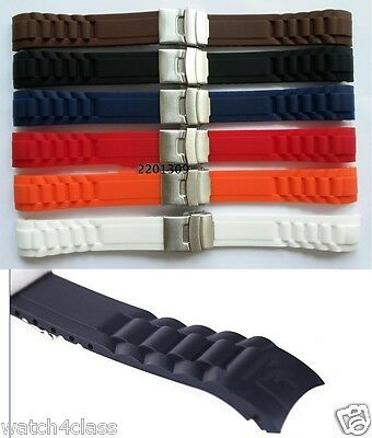 $ CDN16 • Buy Curved End 22mm Or 20mm SPORT DIVER Watch Rubber Band Silicone Strap.bracelet