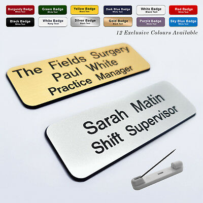 £1.40 • Buy PIN Staff ID Name Badges Corporate Personalised Midwife Carer Social Worker