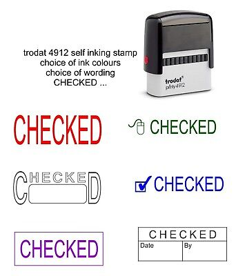 £10.50 • Buy Checked Rubber Stamp Self Inking Office School Business Accounts Shop Business