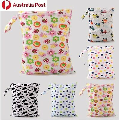 AU5.99 • Buy Large Children Kids Wet Bag For Nappies Swimmers Bathers Swimming Waterproof A8