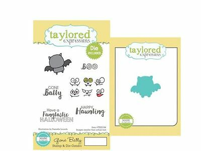 Taylored Expressions Rubber Cling Stamp(6) & Die(1) Set  GONE BATTY ~TEPS196 • 17.09$