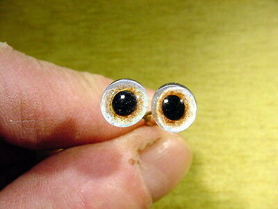 £12 • Buy A Pair Vintage Glass Eyes Size 9 Mm Age 1910 For Doll , Bears Or Taxidermy 802