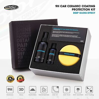 $59.99 • Buy 9H Car Ceramic Coating Paint Protection Kit - Color N Drive Deep Gloss