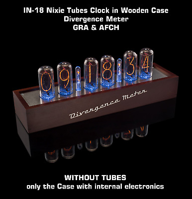 £190.45 • Buy IN-18 Nixie Tubes Clock In Wooden Case Divergence Meter [WITHOUT TUBES] GRA&AFCH