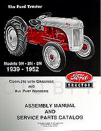 $ CDN34.73 • Buy Ford 2N 8N 9N Tractor Assembly Book And Parts Manual 1939-1952 Catalog