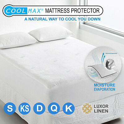 AU39 • Buy All Size Coolmax Mattress Protector Pillow Cover Cool Summer Pad