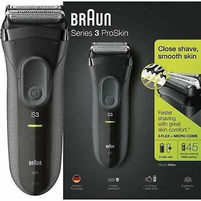 View Details Braun Series 3 ProSkin 3000s Men Electric Rechargeable Shaver Smooth Razor Black • 59.00£
