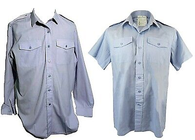 RAF Blue Shirt Royal Air Force Long / Short Sleeve Military Cadets  • 7.95£