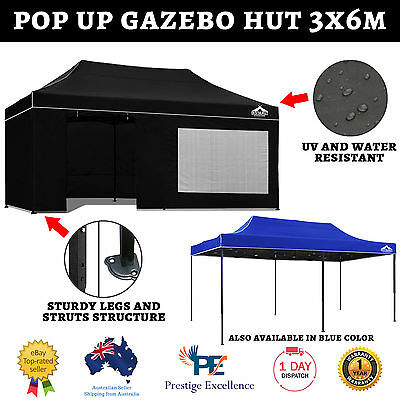 AU299.50 • Buy 3x6m Outdoor Gazebo Folding Marquee Tent Canopy Shade Pop Up Garden Camping New