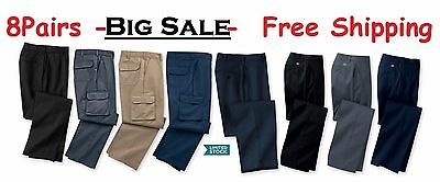 $49.99 • Buy 8 Used Work Pants -Good Condition - FREE Priority Shipping