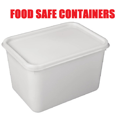 4 Litre Rectangular Ice Cream Tubs With Lids / Kitchen Food Storage Containers • 13.85£