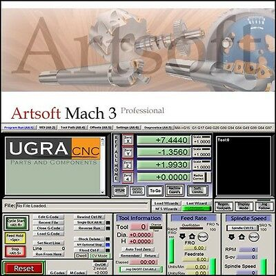 $155 • Buy Mach3 CNC Software For CNC Router, Mill, Lathe - Personalized License