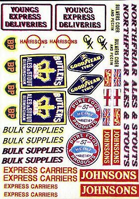 Lorry Set 2 Waterslide Transfers T4 Colour OO Scale Langley Models Decals 1/76 • 6.66£