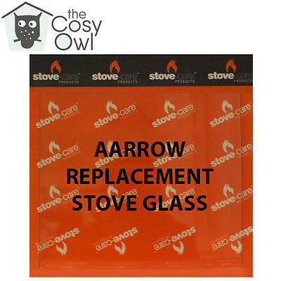 Various sizes//models Aarrow Stove Replacement Glass WITH SEAL
