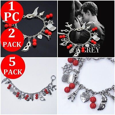 4~1X Fifty Shades Of Grey Inspired Charm Bracelet Christian Ana 50 Shades Tbf • 9.67£