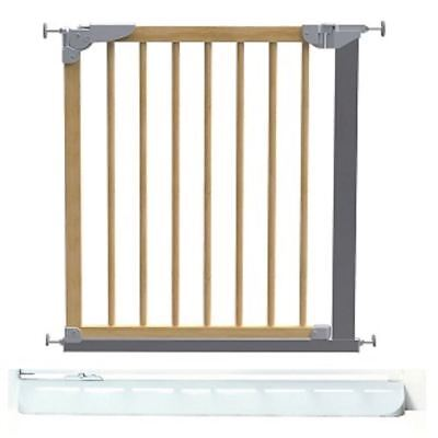 BabyDan Designer Narrow Wooden Pressure Fit Safety Stair Gate & No Trip Plate • 49.85£