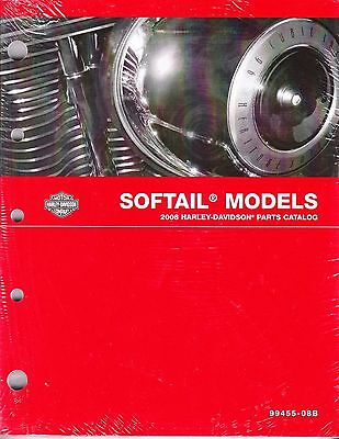 $109.80 • Buy 2008 Harley Softail FX/FL Springer Deuce Heritage Classic Parts Catalog Manual