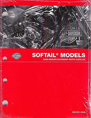 $120 • Buy 2009 Harley Softail FX/FL Springer Deuce Heritage Classic Parts Catalog Manual