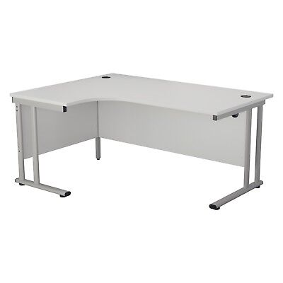 £195 • Buy RZ White Crescent Heavy Duty Professional Office Desk, Left & Right Hand Options