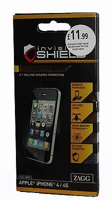 £2.99 • Buy ZAGG INVISIBLE SHIELD  FULLBODY Premium Screen Protection For IPhone 4/4S -NEW