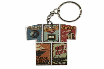 Keyring Garage Auto Parts Jersey Printed Gas Stations Vintage • 8.99£