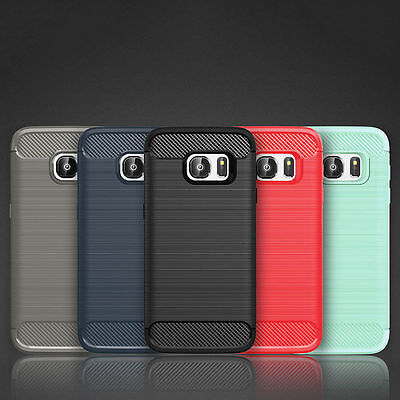 $ CDN10.99 • Buy Shockproof Soft Silicone TPU Carbon Fiber Back Case Cover For Samsung S7|S7 Edge