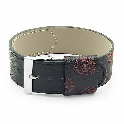 DASSARI Milan Italian Black Silk & Leather Strap Watch Band • 21.70£