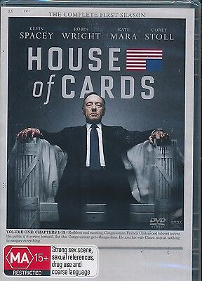 AU15 • Buy House Of Cards The Complete First Seasons DVD NEW Kevin Spacey Region 4