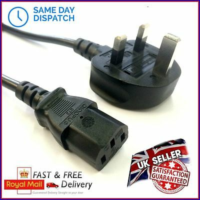 AU16.51 • Buy Guitar Amp UK Power Cable Mains Cord Wire Kettle Lead - All Brands & Lengths C13