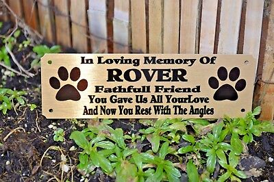 £9.99 • Buy Pet Memorial Plaque Personalised Grave Marker Sign Dog / Cat 6  X 2  Or 4  X 2