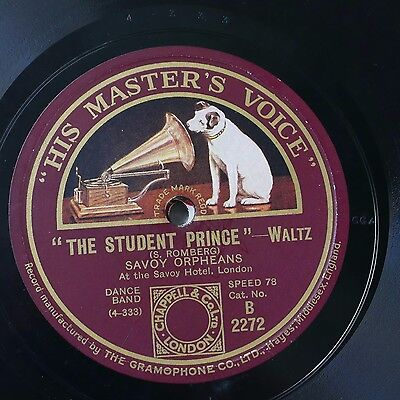 78rpm SAVOY ORPHEANS The Student Prince / Valencia B2272 • 20£