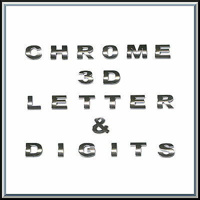 £1.08 • Buy 3D Chrome Self Adhesive Letters Digits Numbers Signs Emblem Badge Decal Stickers
